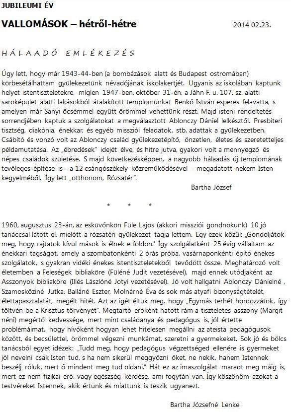 Bartha József éS Bartha Józsefné Lenke