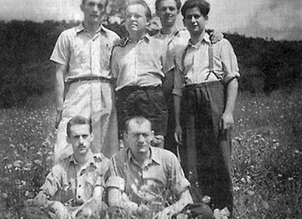 Rózsatéri ifjak kirándulása az ötvenes évek elején