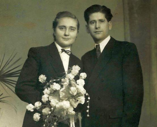 házasságkötés: Rózsatér 1953 december 24.