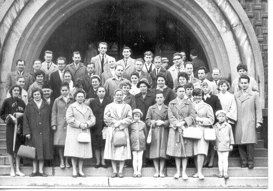 Gyülekezeti énekkar a hatvanas években