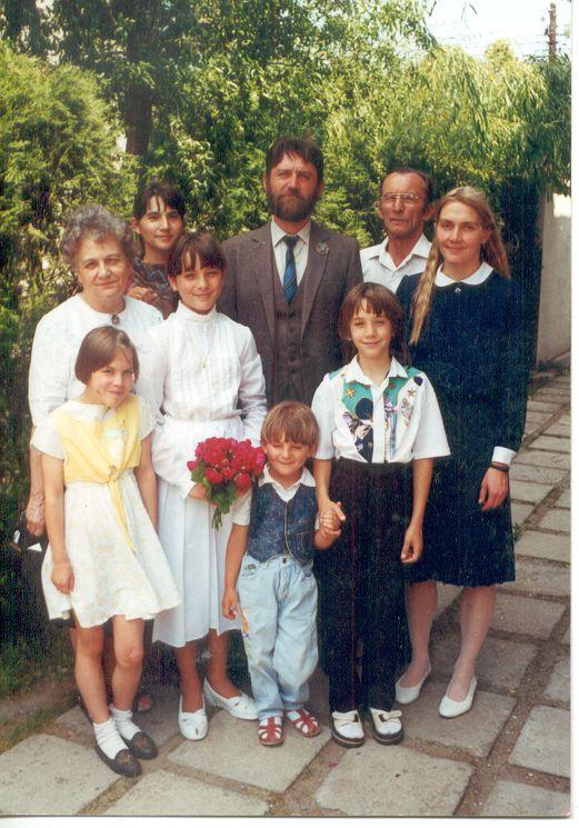 Bartha József és családja