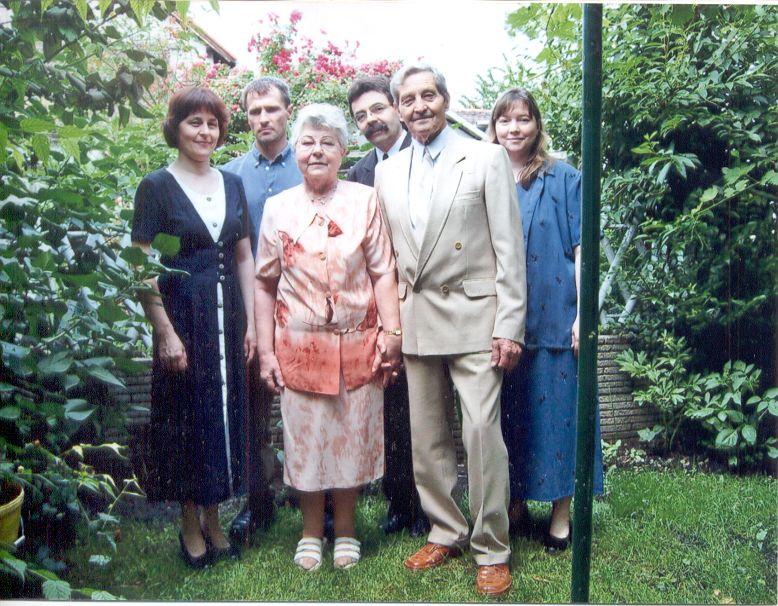 Bartha Sándor és családja
