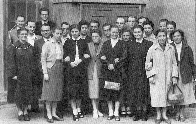 Gyülekezeti csoportkép – ötvenes évek
